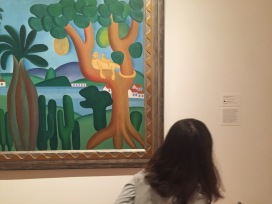 Admiring the art