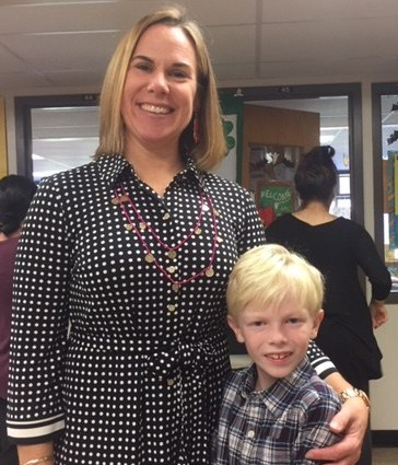 Mrs. Esposito and the author, Connor Walsh